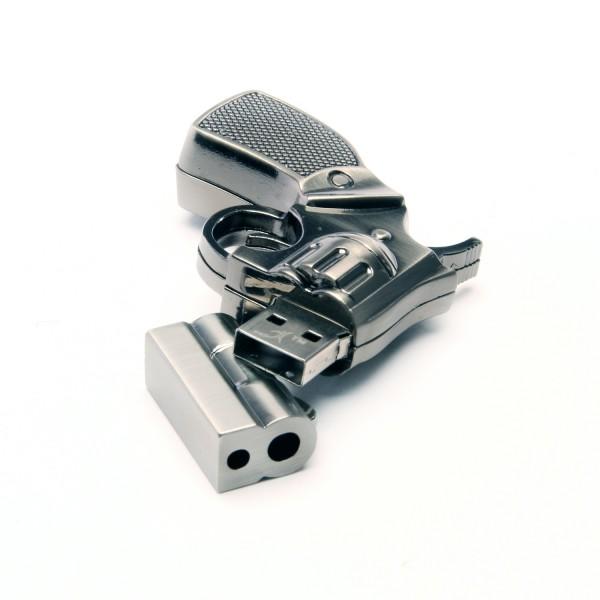 usb stick als pistole metall usb sticks nach kapazitaet 4 gb. Black Bedroom Furniture Sets. Home Design Ideas