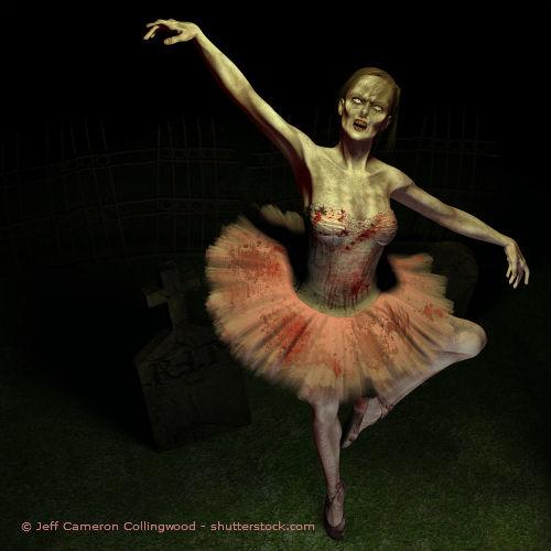 Halloween Kostüm tanzende Dame
